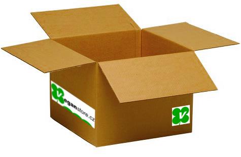 VeganStore.cz - krabice z recyklovaného materiálu
